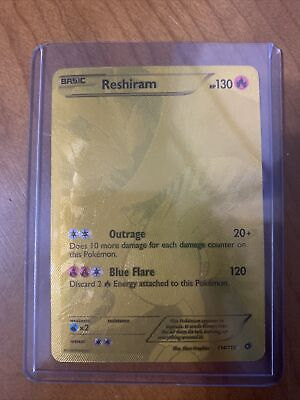 Pokemon Reshiram 114/113 Legendary Treasures GOLD FULL ART SECRET RARE