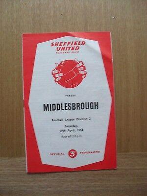 1957/58 Sheffield United v Middlesbrough