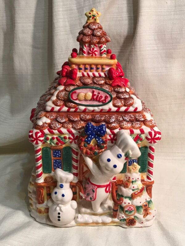 FLAW Pillsbury Doughboy Cookie Jar Christmas Danbury Mint
