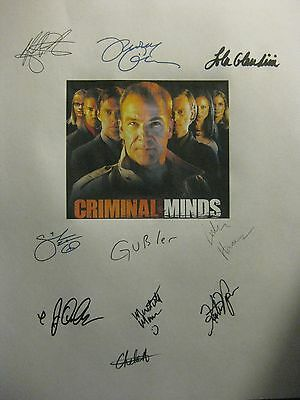 Criminal Minds Signed TV Script X10 Mandy Patinkin Tom Gibson Shemar Moore repnt