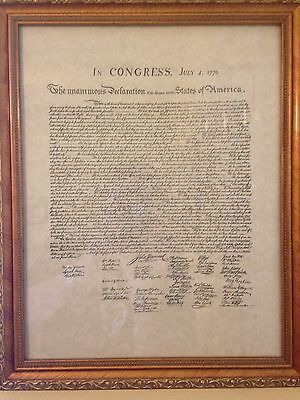 Reproduction Declaration of the thirteen United States of America July 4th, 1776