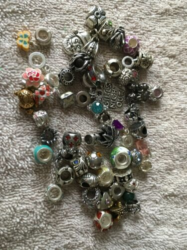 Wholesale European bead, charm, spacer lot of 50. Random color and style