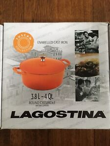 Lagostina Enamelled Cast Iron Round Casserole with Cover