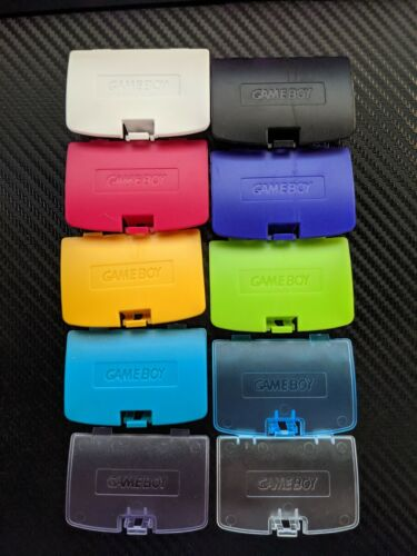 Game Boy Color GBC Battery Cover Doors - 10 Color Options!