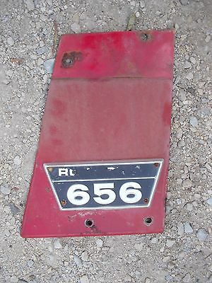 International 656 Rc Utility Tractor Original Ih Ihc Front R Hood Emblem Panel
