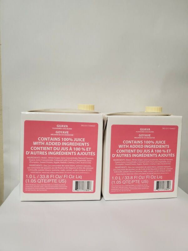 STARBUCKS 2 NEW SEALED STARBUCKS GUAVA REFRESHER BASE CONCENTRATE (1liter jugs )
