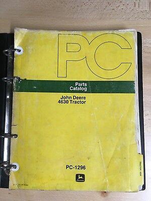 John Deere Parts Catalog 4630 Tractors Pc-1296 Oct 1975