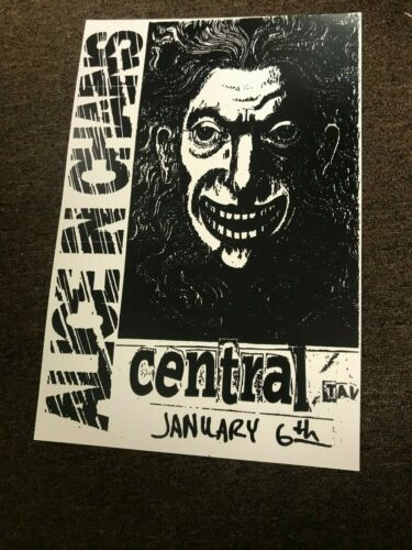 "Alice in Chains 1989 Central Tavern Seattle Cardstock Concert Poster - 12"" x 18"""