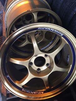 "17"" advan rgd wheels 3 only 5 114.3 jap jdm Nissan Toyota honda mazda  Crestmead Logan Area Preview"