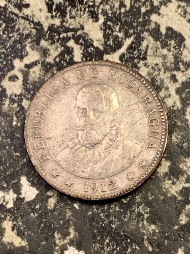 1912-H Nicaragua 10 Centavos Lot#Z880 Silver!