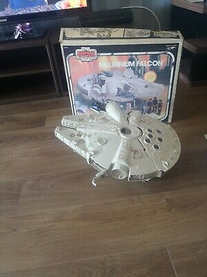 Fab Star Wars ESB Millenium Falcon Spaceship Vintage used with Box c1981 (shell)