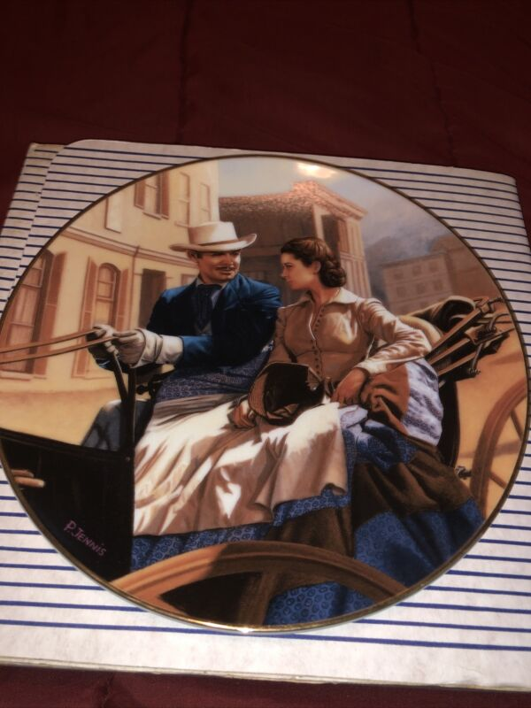 GONE WITH THE WIND COLLECTOR PLATE/THE BUGGY RIDE/1992/W.S GEORGE/COA 6077a