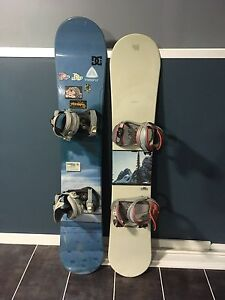 2 snowboards up for sale
