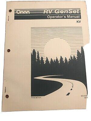 Onan Rv Genset Operators Manual