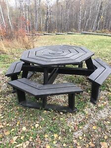 Hand crafted Solid wood picnic table