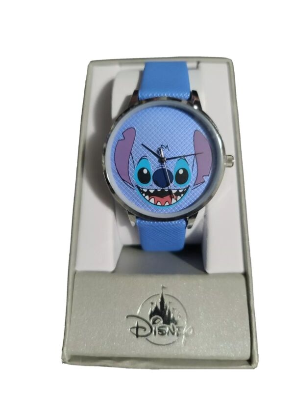 Disney Parks Exclusive Blue Silver Tone Stitch Wrist Watch ✅fast shipping✅