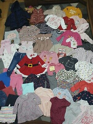 Huge Bundle Of Baby Girl Clothes 6-9months #140 GEORGE NEXT PRIMARK RIVER MONSOO