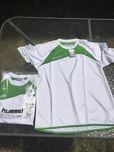 Hummel training shirt (white and lime) Jannali Sutherland Area Preview
