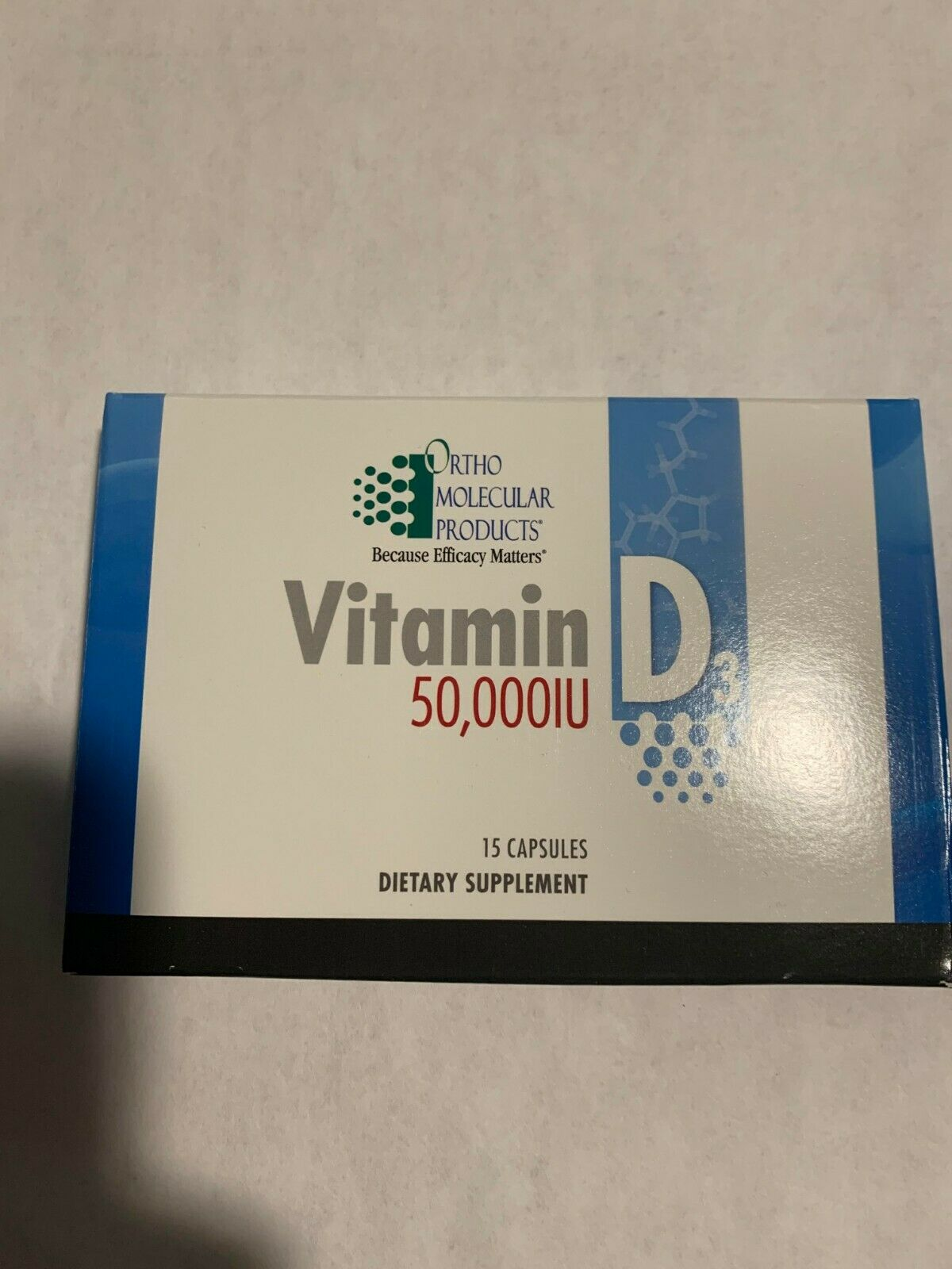 Ortho MolecularVitamin D3 50,000 IU 15 ct blister pack (5 pack) New!
