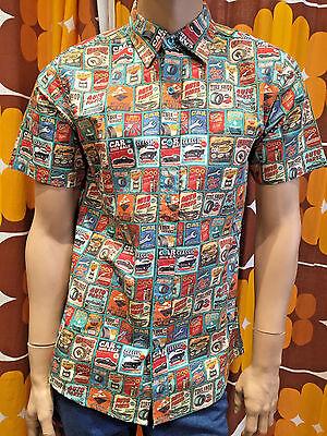 MEN'S RUN & FLY 50'S/60'S RETRO/VINTAGE/HAWAIIAN 50'S CLASSIC CAR PRINT SHIRT Classic 50's Retro Shirt