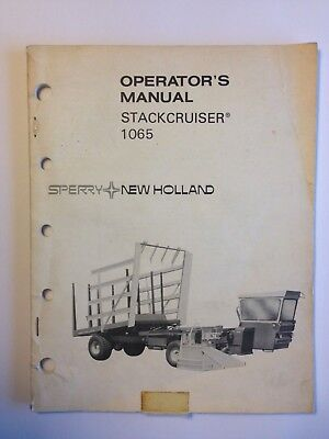 1976 Sperry New Holland 1065 Stackcruiser Operators Manual Hay Bale Equipment