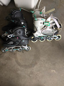 2 pair of woman's roller blades