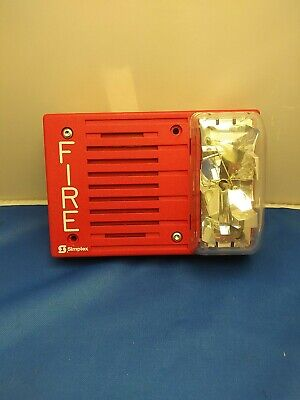 Simplex 4903-9219 Fire Alarm Hornstrobe Wall Red