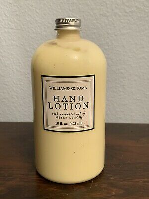 William Sonoma Hand Lotion With Essential Oils Of Meyer Lemon Essentials Hand Lotion