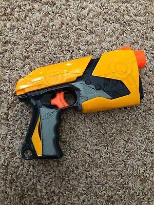 2010 Hasbro Nerf Sharpshot Dart Tag Gun Blaster Fire Pistol Gray & Yellow