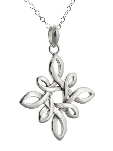 Celtic Love Knot Pendant Necklace 925 Sterling Silver