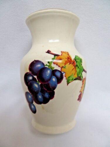 Vintage Grapes on Vine White Vase rb511
