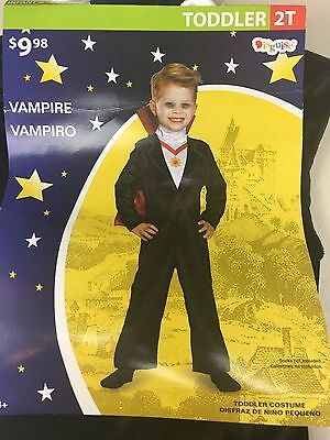 Vampire Costume toddler 2T Jumpsuit and cape - Toddler Vampire Cape