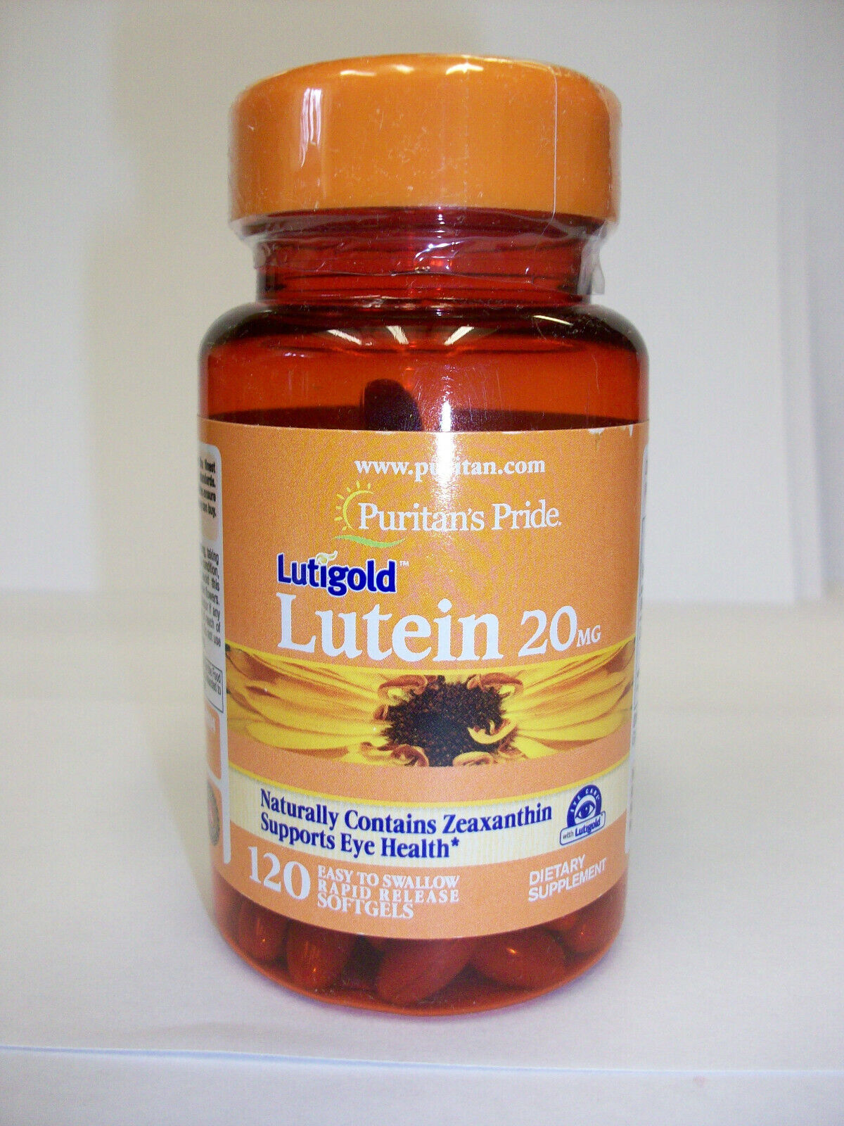 Puritan's Pride 20mg Lutein with Zeaxanthin - 120 Softgels