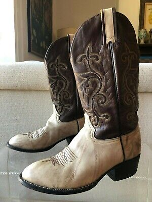 HONDO Spanish Soldier Stitched Leather Cowboy Boots Mens Size 10.5 E Mexico