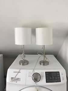 Two white lamps