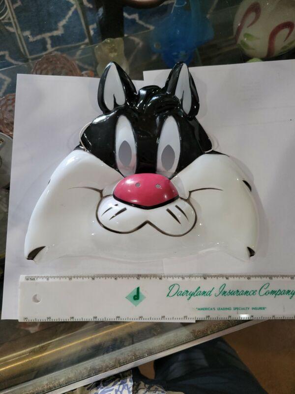 Vintage 1984 Halloween WB Sylvester Cat Plastic Mask Great Shape