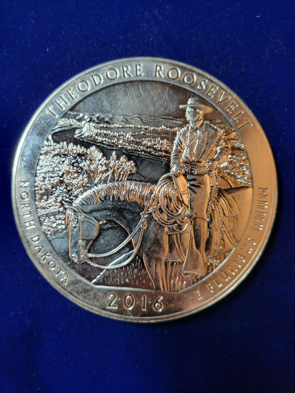 2016 America The Beautiful Theodore Roosevelt 5oz Silver Coin In Capsule - $164.99