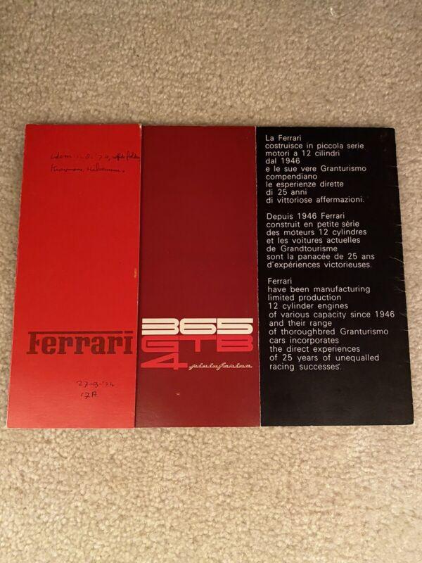 Ferrari 365 GTB4 Daytona Brochure 64/72