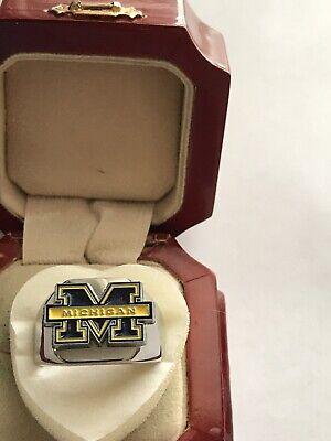 "New Men's Heavy Stainless Steel ""University of Michigan"" Ring ()"