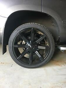 "Full Set of 22"" Black Rims and Tyres - Suit 6 Stud Rosevale Ipswich South Preview"