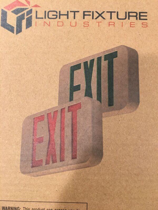 MODERN LED EXIT SIGN #LEDRBB-JR BRAND NEW IN BOX