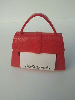 Marque Red Purse Pop-up Note Post It Note Dispenser 90 3x3 Note Weighted