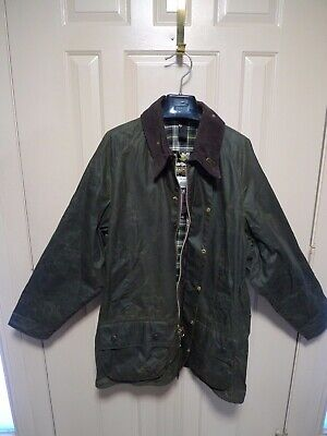 BARBOUR -A150 BEAUFORT WAX COTTON JACKET-  SAGE -MADE IN ENGLAND---SIZE 48