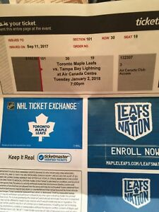 Leafs vs tampa bay tickets