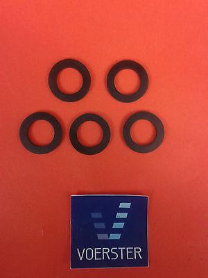 Gummi-Dichtung für Brauseschlauch 1/2'' 12 x 19 x 2mm/schwarz 5 Stück