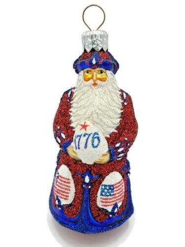 Patricia Breen Miniature Imperial Santa Patriotic 4th of July Holiday Ornament
