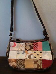 Authentic Coach Purse with Multipatterns