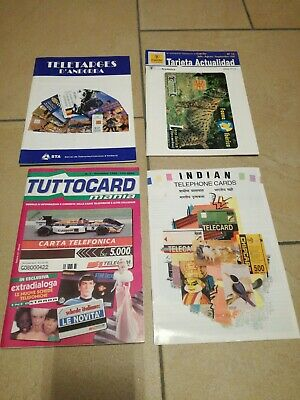 4x italia india andorra phonecard collect bulletin catalogue