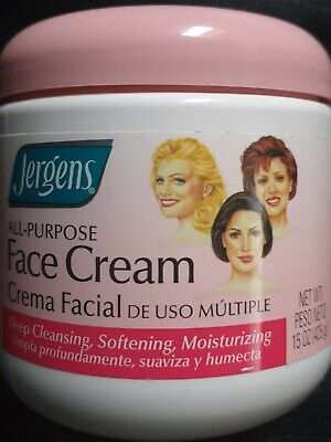 2 x Jergens All Purpose Face Cream Cleanses Soothes Moisturizes - 15 oz Each