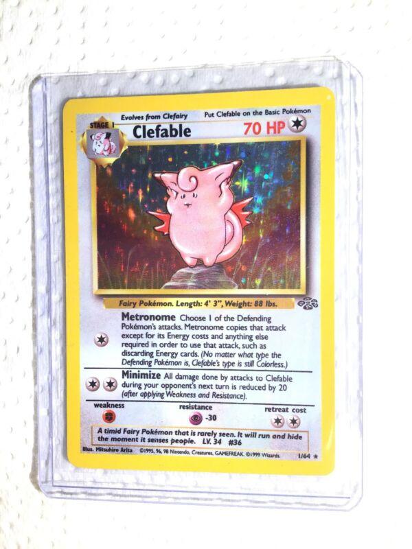Clefable 17//64 1ST EDITION Jungle Set RARE Pokemon Card EXCELLENT
